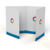Folders 4-luik met venstervouw