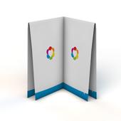 Folders 4-luik met kruisvouw