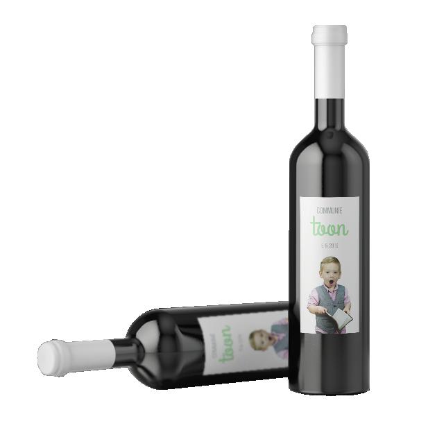 etiketten wijnfles